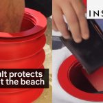 This container protects your valuables at the beach